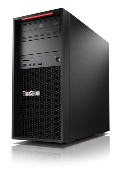 Lenovo TS P320 TWR E3-1245 v5 3.5GHz UMA 16GB 256GB SSD DVD W10Pro cierny 3y OS