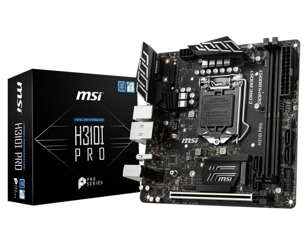 MSI H310I PRO/IntelH310/LGA1151/DDR4/Mini ITX DP DVI