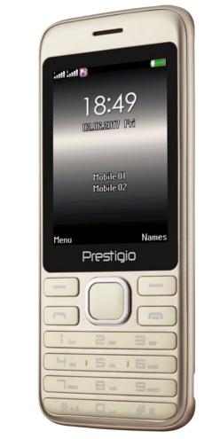 """Prestigio 1281 Grace A1 2.8"""" 320x240 32MB+32MB 950mAh CAM 0.3Mpx BT MicroUSB Dual SIM Zlaty"""
