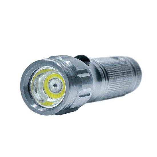 Solight svietidlo, 3W COB + infra laser, strieborná, 3x AAA, so šnúrkou