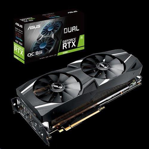 ASUS DUAL-RTX2080-O8G 8GB/256-bit, GDDR6, 3xHDMI, DP, USB-C
