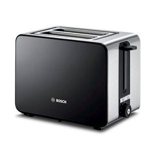 BOSCH_860-1050 W,el.senzor pre rovnomer.výkon,rozmraz.,fce. ohrievanie,auto vyp.,priehradka na omrvinky, nerez / čierna