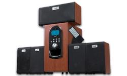 Genius repro SW-HF5+1 6000W LCD, čerešňové drevo, 5.1