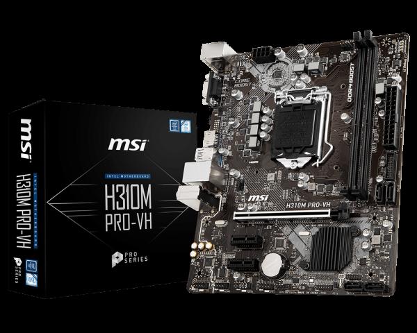 MSI H310M PRO-VH/IntelH310/LGA1151/DDR4/VGA/HDMI/mATX