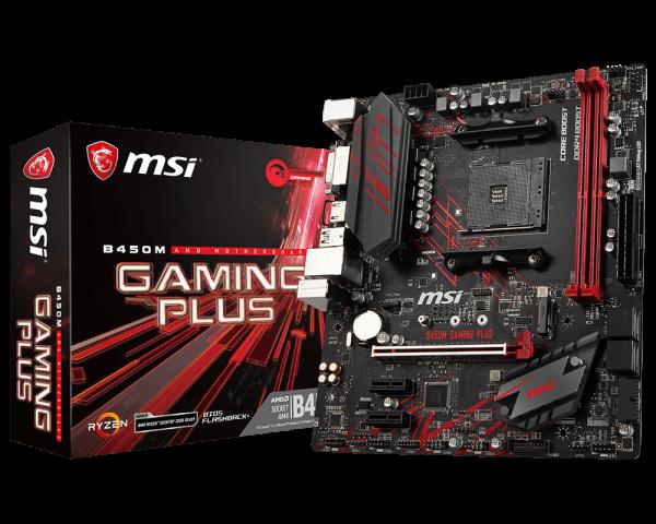 MSI B450 GAMING PLUS/Socket AM4/DDR4/USB3.1/DVI/HDMI/microATX