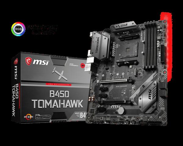 MSI B450 TOMAHAWK/Socket AM4/DDR4/USB3.1/DVI/HDMI/ATX