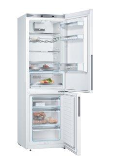 BOSCH_Chladnička/mraznička 186 cm, chlad.214l, mraz. 88l, 161 kWh/365 dní,LED-displej(2 chladiace okruhy), A+++, biela
