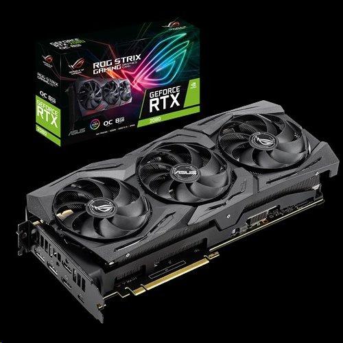 ASUS ROG-STRIX RTX2080-O8G-GAMING 8GB/256-bit, GDDR6, 2xHDMI, 2xDP, USB-C