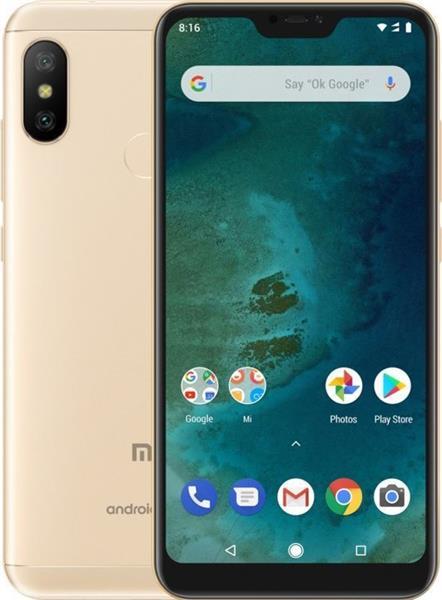 Xiaomi Mi A2 Lite 32GB, Dual SIM, zlatý