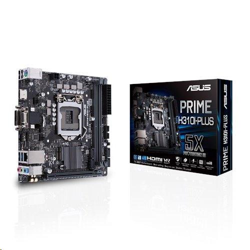 ASUS PRIME H310I-PLUS soc.1151 H110 DDR4 mITX M.2 USB3 D-Sub DVI HDMI