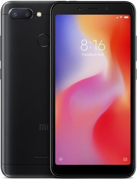 Xiaomi Redmi 6, 32GB, Dual SIM, čierny