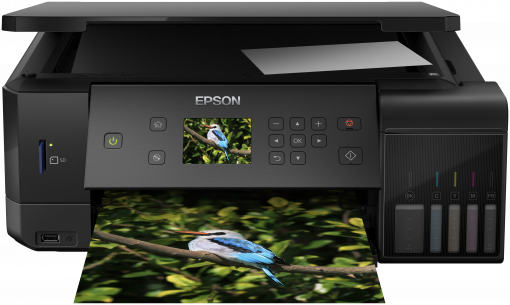 Epson L7160 A4 color All-in-One, foto tlac, potlac CD/DVD, duplex, USB, LAN, WiFi, iPrint + 200ks fotopapier 10x15