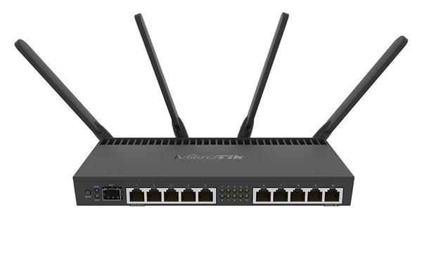MIKROTIK RouterBOARD 4011iGS+5HacQ2HnD-IN +L5 (1,4GHz; 1GB RAM, 10xGLAN, 1xSFP+, LCD, rackmount, zdroj)