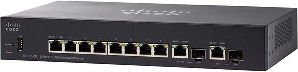Cisco SF352-08 8-port 10/100 Managed Switch