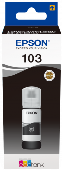 Epson atrament L3xxx Black ink container 65ml - 4500str.