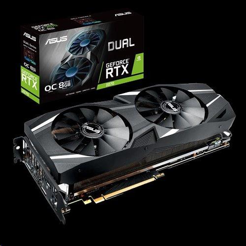 ASUS DUAL-RTX2070-O8G 8GB/256-bit GDDR6 1xHDMI 3xDP USB-C