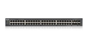 Zyxel GS1920-48v2, 48 Port Smart Managed Switch 48x Gigabit Copper and 4x Gigabit dual pers., hybrid mode, standalone or