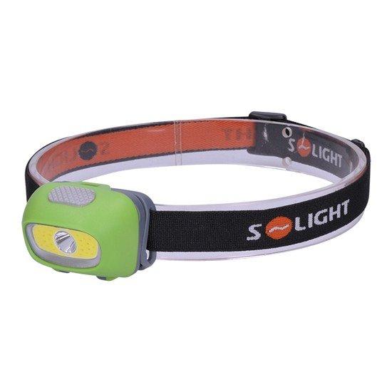 Solight LED čelové svietidlo, 3W Cree + 3W COB, 120lm, biel + červené