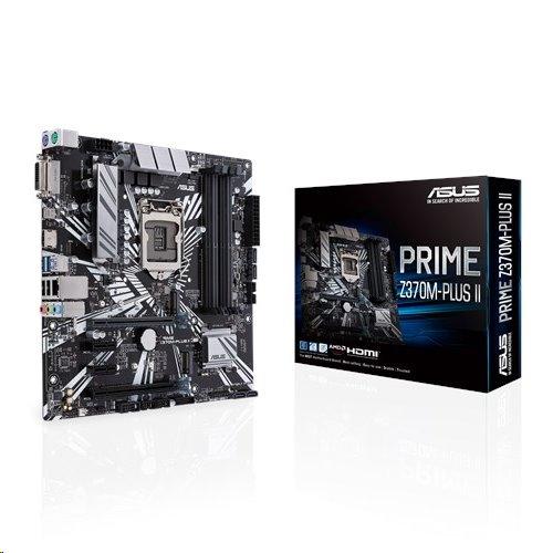ASUS PRIME Z370M-PLUS II soc.1151 Z370 DDR4 mATX M.2 RAID USB-C HDMI DVI