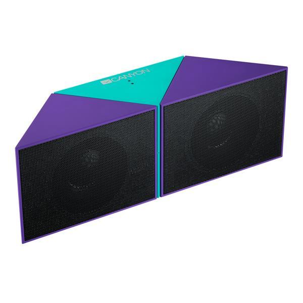 Canyon CNS-CBTSP4GBL Bluetooth 4.1 reproduktor, Stereo, 3.5mm miniJack, microUSB, microSD, akum., fialovo - čierny