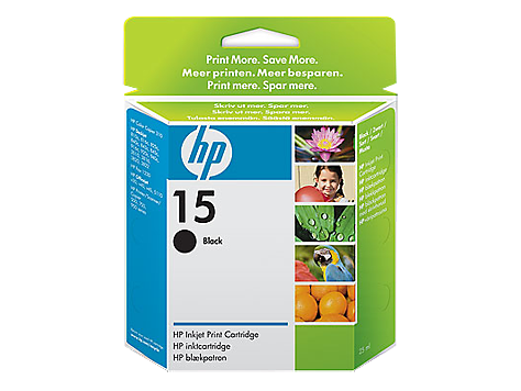 HP No.15 black inkjet cartridge (25 ml)