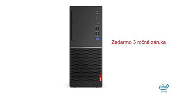 Lenovo V530 TWR G5400 3.7GHz UMA 4GB 128GB SSD DVD W10Pro cierny 1yCI