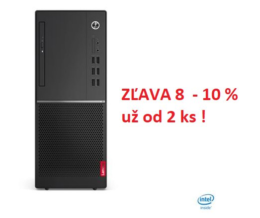 Lenovo V530 TWR i3-8100 3.6GHz UMA 4GB 128GB SSD DVD W10Pro cierny 1yCI