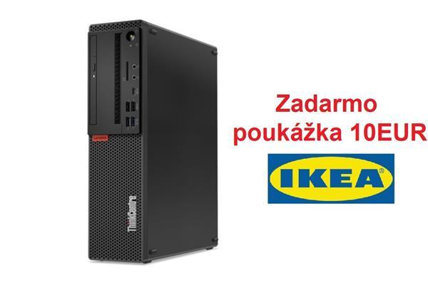 Lenovo TC M720s SFF i5-8400 4.0GHz UMA 8GB 1TB + 16 GB SSD DVD W10Pro cierny 3yOS