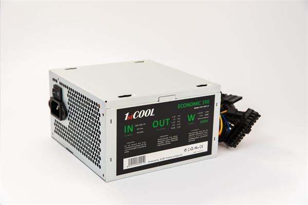 Zdroj 350W 1stCOOL ECONOMIC 300, 12cm ventilátor, bulk