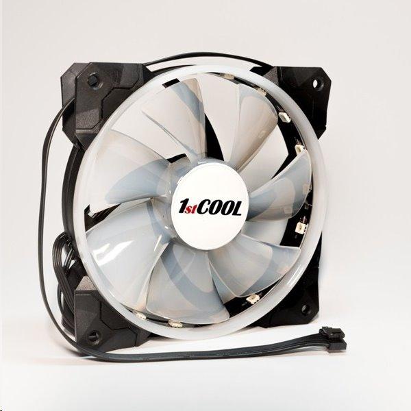 1stCOOL RAINBOW RGB LED 12cm ventiláror