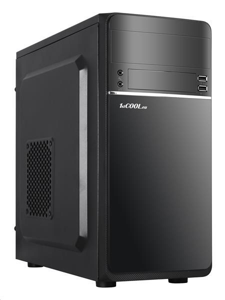 1stCOOL STEP 1, ver.2, skrinka mATX, USB2.0+USB3.0, čierna
