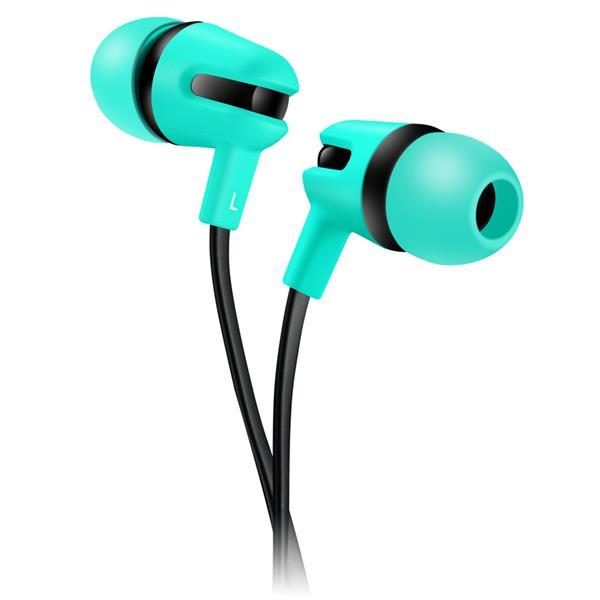 Canyon CNS-CEP4G štýlové slúchadlá do uší, pre smartfóny, integrovaný mikrofón a ovládanie, plochý kábel, zelené