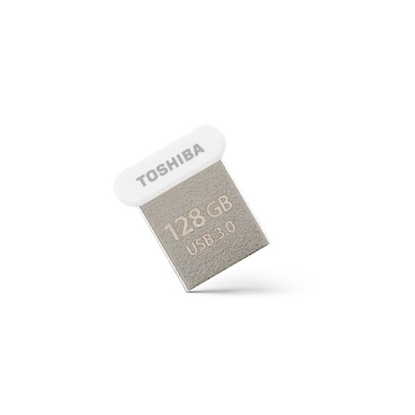 128 GB . USB 3.0 kľúč . TOSHIBA - TransMemory biela