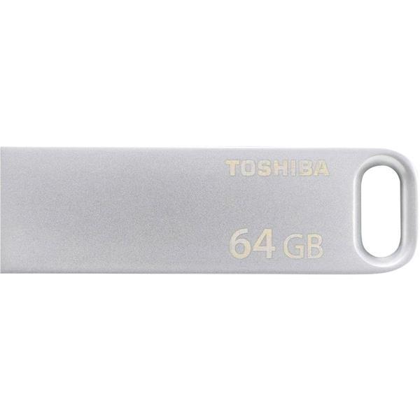 64 GB . USB 3.0 kľúč . TOSHIBA - TransMemory strieborná
