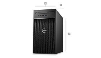 Dell Precision T3630 i7-8700 16GB SATA SSD 256GB+1TB P1000-4GB W10Pro 3Yr PS