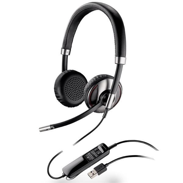 náhlavná súprava na obe uši so sponou BLACKWIRE C520