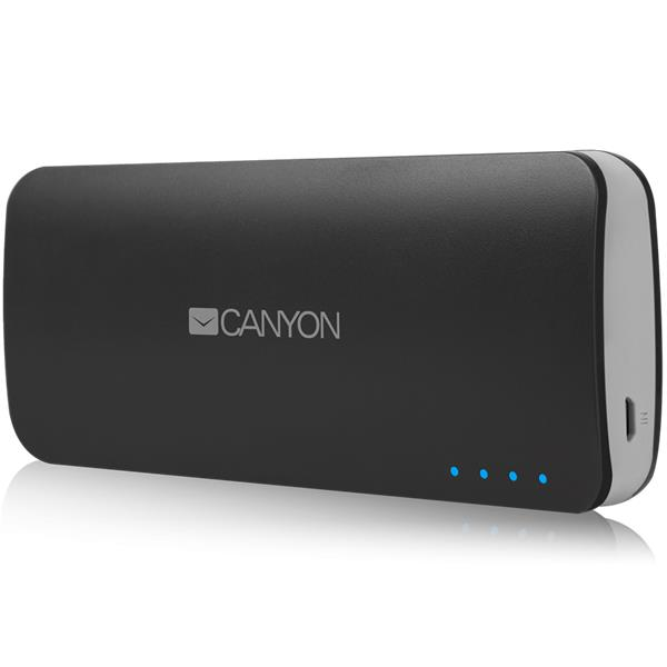 Canyon CNE-CPB100DG Powerbank 10.000 mAh, dual USB 5V/1A/2A, pre smartfóny a tablety, tmavo-šedá