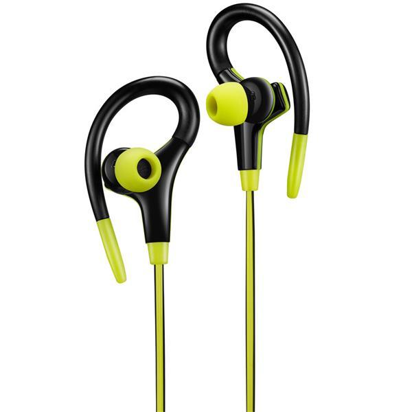Canyon CNS-SEP2L slúchadlá do uší pre športovcov, integrovaný mikrofón a ovládanie, háčik za ucho, žlté