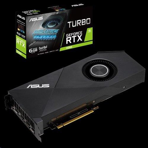 ASUS TURBO-RTX2060-6G 6GB/192-bit, GDDR6, DVI, 2xHDMI, 2xDP