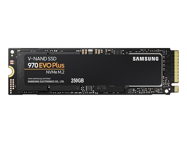 Samsung SSD 970 EVO Plus Series 250GB M.2 PCIe, r3500MB/s, w2300MB/s