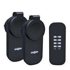 Solight diaľkovo ovládané vonkajšie zásuvky set 2 + 1, 2 zásuvky, 1 ovládač, learning code