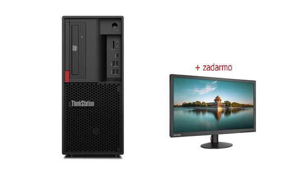 Lenovo TS P330 TWR i7-8700 4.6GHz NVIDIA P620/2GB 16GB 256GB SSD DVD W10Pro cierny 3y OS