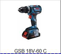 Bosch Príklepový vŕtací skrutkovačGSB 18 V-60 C