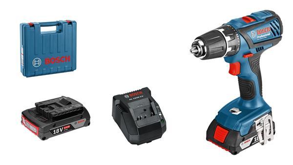 Bosch Vŕtací skrutkovačGSR 18-2-LI Plus(2x 2,0 Ah; kufr)