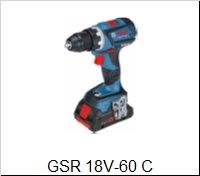 Bosch Vŕtací skrutkovačGSR 18 V-60 C