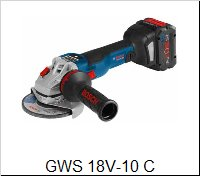 Bosch Uhlová brúskaGWS 18 V-10 C