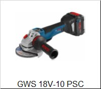 Bosch Uhlová brúskaGWS 18 V-10 PSC