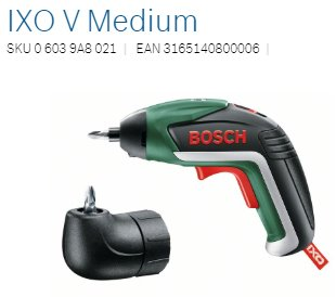 Bosch Aku skrutkovačIXO V - Medium Package
