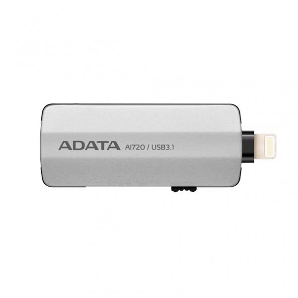 64 GB . USB kľúč . ADATA i-Memory AI720, grey ( USB 3.1, Lightning ) OTG