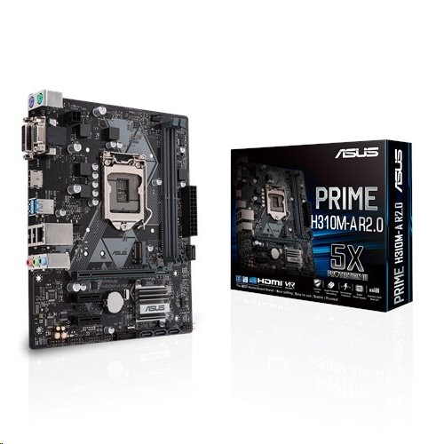 ASUS PRIME H310M-A R2.0 soc.1151 H310 DDR4 mATX M.2 D-Sub DVI HDMI